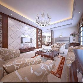 美式美式風格客廳案例展示效果圖