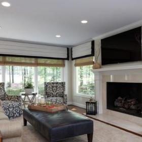 欧式风格一层别墅客厅简洁2013客厅窗帘设计图效果图