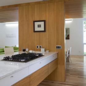 現代簡約風格餐廳簡潔褐色客廳與餐廳隔斷改造