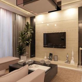 家居摆件电视柜窗帘茶几电视柜114㎡三居室现代简约风格客厅电视背景墙装修效果图现代简约风格cj图片