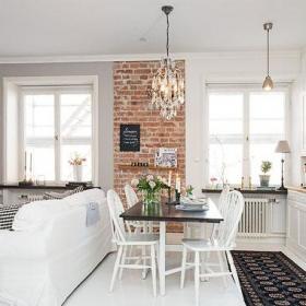 30-60平米北歐風格超小戶型單身美女高管北歐家客廳設計效果圖
