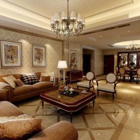 歐式客廳背景墻客廳沙發背景墻效果圖