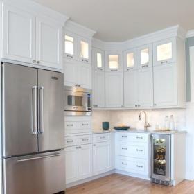 现代简约风格厨房一层半别墅客厅简洁2012厨房装潢效果图