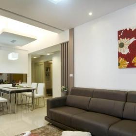 一居室簡約風格公寓富裕型80平米客廳吊頂餐桌臺灣家居效果圖