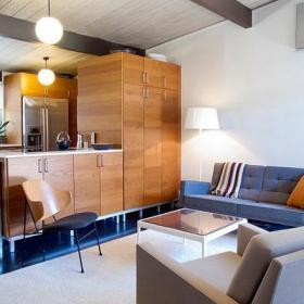 茶幾70㎡混搭閣樓小而客廳裝修設計效果圖