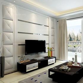 电视背景墙白色电视柜100㎡茶几背景墙现代茶几客厅背景墙黑白新诠释,演绎客厅装修新风尚效果图大全