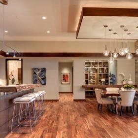 歐式風格客廳一層半小別墅簡單溫馨主題餐廳裝潢效果圖