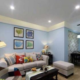公寓120平米小清新120平混搭风格装修清新客厅效果图