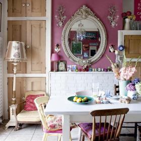 110㎡田園客廳背景墻歐式三居餐桌餐椅活潑的奢華餐廳來襲效果圖大全