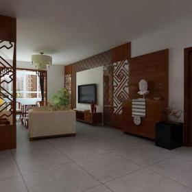 新中式风格客厅隔断装修效果图新中式风格储物柜图片