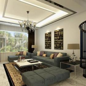 水晶灯沙发吊灯现代客厅沙发现代吊灯时尚个性的客厅装修效果图