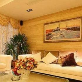 客廳金色瓷磚效果圖