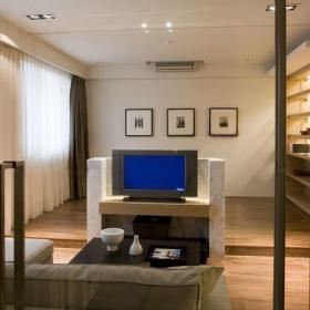 两居室现代简约餐厅隔断_客厅隔断设计餐厅