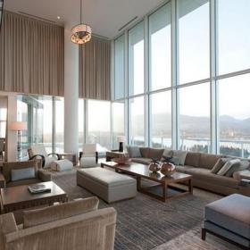 现代风格别墅挑高客厅装修效果图现代风格沙发图片