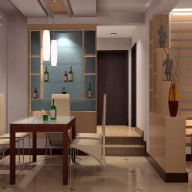 现代简约餐厅客厅隔断_餐厅客厅隔断