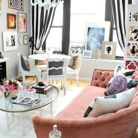 白色歐式客廳二居室歐式小資風格客廳透明茶幾裝修實景圖效果圖