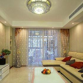 电视柜地柜沙发茶几客厅吊灯现代简约风格客厅电视背景墙装修图片效果图大全