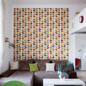 現代30平米小戶型客廳沙發背景墻效果圖