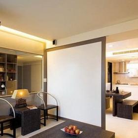 現代簡約客廳客廳隔斷_餐廳隔斷客廳