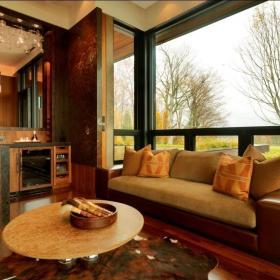 两居室混搭风格客厅地台_飘窗客厅