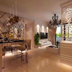 客隔斷雕花隔斷客廳隔斷現代簡約風格餐廳背景墻裝修效果圖現代簡約風格吊頂圖片