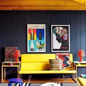 波普风格客厅装饰画效果图