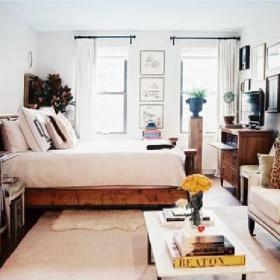 客厅卧室一体效果图大全2015图片欣赏