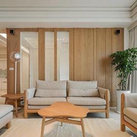 日式风格小户型120平米日式客厅装修效果图