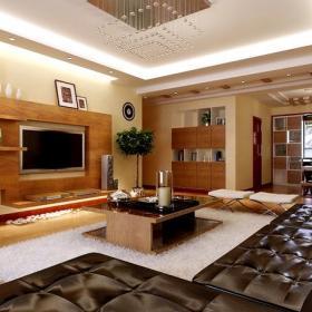 電視柜茶幾背景墻日式客廳茶幾客廳背景墻有隔板的沙發背景墻效果圖欣賞