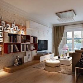 家装客厅不吊顶效果图大全欣赏