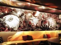 最新酒吧墙体彩绘效果图大全
