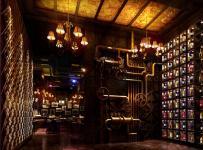 主题酒吧现代酒柜工装时尚动感的酒吧设计效果图欣赏