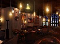 现代工装主题酒吧时尚动感的酒吧设计效果图大全