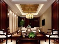 新中式风格酒店包间装修效果图