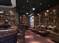 吧台椅沙发主题酒吧吧台现代工装主题酒吧时尚动感的酒吧设计效果图