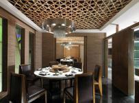 新中式风格火锅店包间吊顶装修图片新中式风格餐桌图片效果图大全