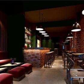 酒柜吧台沙发吧台椅主题酒吧吧台现代工装主题酒吧时尚动感的酒吧设计效果图欣赏