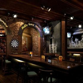 大型酒吧装修酒吧椅图片效果图
