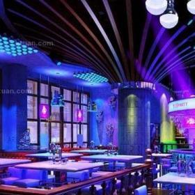 酒吧室内吊顶设计案例效果图