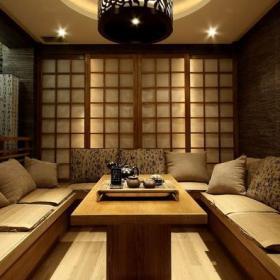 日式风格茶楼包间装修效果图
