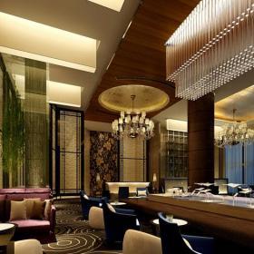 主題酒吧沙發現代工裝主題酒吧時尚動感的酒吧設計裝修效果圖