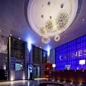 酒吧前台吊顶灯池设计效果图