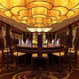 中式风格酒店包间装修效果图-中式风格餐桌图片