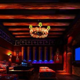 酒吧室内木制吊顶设计图片效果图
