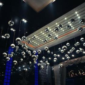 现代时尚小酒吧室内吊顶图片效果图