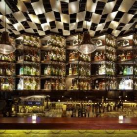 工装优雅小酒吧设计上海布朗石酒吧效果图大全