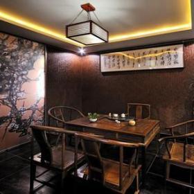 中式风格茶楼包间装修效果图-中式风格椅凳图片