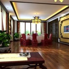 新中式风格餐厅场所包间装修效果图-新中式风格餐桌餐椅图片