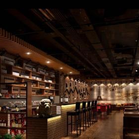 主題酒吧吧臺沙發現代工裝主題酒吧時尚動感的酒吧設計效果圖大全