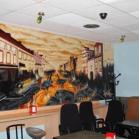 小酒吧壁画效果图